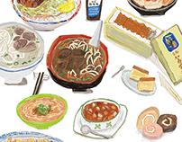北區光點計劃 美食插畫 Food Illustration for Taiwan tourism bureau