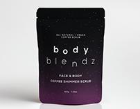 BodyBlendz Face & Body Coffee Shimmer Scrub