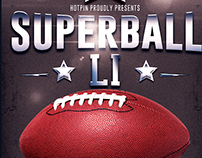 American Super Bowl Football Flyer