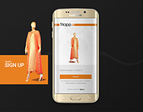 Triapp: Online Apparel Store's Android App Design