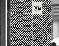 Branding for Italian Futurism Coppa! Espresso Bar.