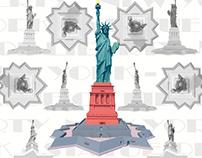 Famous Buildings III - Statue of Liberty - New York
