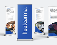 Brand design roll-up banners and event collateral