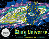 Bling Universe label design