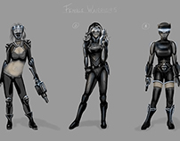 Female Warriors Concept