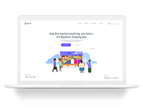 Biponon — A Retail AI Website UI/UX