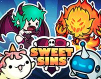 Kawaii Enemies & Pets Design for Sweet Sins Game App