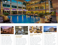 Blog Full-Width - Hotel WordPress Theme