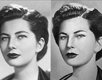 Portrait Of Soraya - Photo And Painting