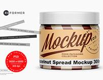 Hazelnut Spread Mockup