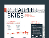 Clear the Skies: Drone Infographic