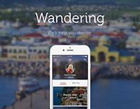Wandering - Travel App Concept