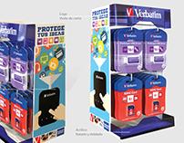Exhibidores de mostrador Verbatim