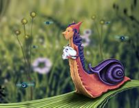 Royal Snail's daily walk