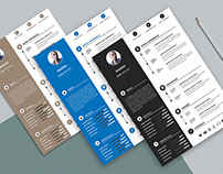 Free Modern Personal Resume with professional Design