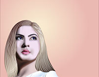 vector potrait mesh fill illustrator