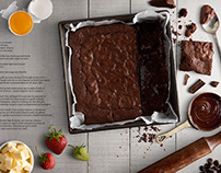 Brownies recipe made with PNG images