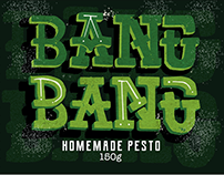 Bang Bang Homemade Pesto packaging design