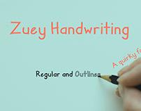 Free Zuey Handwriting Font - Sans serif