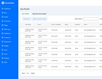 Quiz Results Dashboard page Design