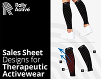 Sales Sheet Design for Activewear by Swan Media