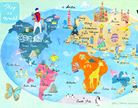 Map Of World|A3 Poster