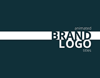 Animated brand logo titles