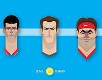 Tennis Player Illustrations