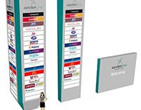 Rugby Retail Signage Totem and Branding
