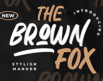 THE BROWN FOX STYLISH MARKER - FREE FONT