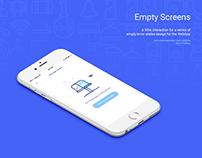Empty State Screens