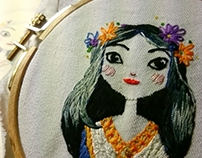 Snow White embroidery