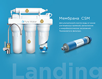 Pure Water - Landing Page