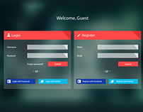 Login Register PSD