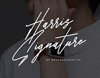 Harris Signature Font
