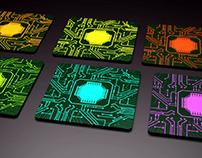 Circuit board drink coasters