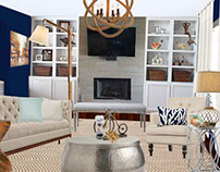 Beach house Living Room Rendering