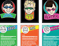 Custom Super Hero Trading Cards