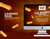 Landing Page Tequeñomanía - Franquicia