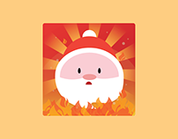 Santa on Fire Icon