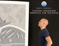 Marco Simeoni's  CUSTOM HANDMADE GRAPHICS FOR THE DOOR