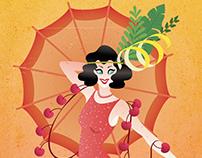 Singapore Sling Flapper Girl Poster
