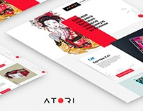 Responsive landing page - Delivery of goods from Japan