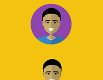 Flat Design Portrait