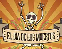 El Día de los Muertos Festival Banner