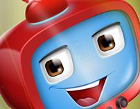 Latest work, character design: Robot TV