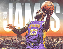NBA Art | Lebron James | Welcome to Los Angeles Lakers