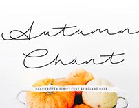 AUTUMN CHANT - FREE HANDWRITTEN SCRIPT FONT