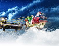 Greeting Christmas card for the company Lotus