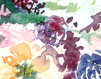 Floral Watercolor Painting. Illustration.